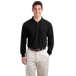 Long Sleeve Silk Touch™ Polo with Pocket Thumbnail