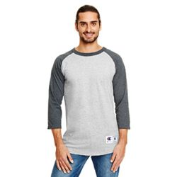 Champion T1397 Adult 5.2 oz. Raglan 3/4 Sleeve T-Shirt Thumbnail