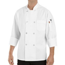 Chef Designs 0413 Pearl Button Chef Coat with Thermometer Pocket Thumbnail