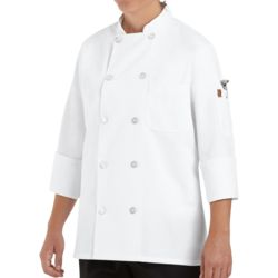 Chef Designs 0401 Women's Ten Button Chef Coat Thumbnail