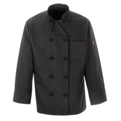 Chef Designs 0427 Black Knot Button Chef Coat Thumbnail