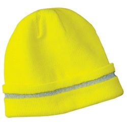 CornerStone CS800 Enhanced Visibility Beanie with Reflective Stripe Thumbnail
