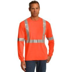 CornerStone CS401LS Ansi 107 Class 2 Long Sleeve Safety T Shirt Thumbnail