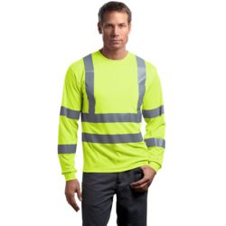 CornerStone CS409 Ansi 107 Class 3 Long Sleeve Snag Resistant Reflective T Shirt Thumbnail